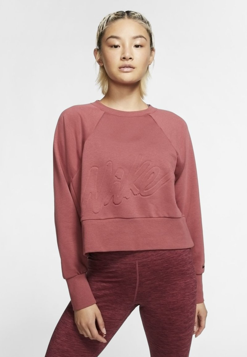 Nike Performance - DRY GET FIT LUX - Sweater - dark red