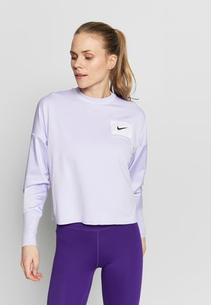 MIDLAYER CREW REBEL - T-shirt sportiva - lavender mist/white/black