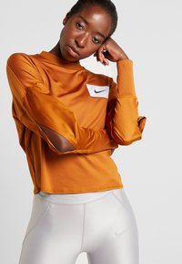 Nike Performance - MIDLAYER CREW REBEL - Sports shirt - burnt sienna/white/black - 3