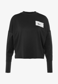 Nike Performance - MIDLAYER CREW REBEL - Funktionsshirt - black/white - 3