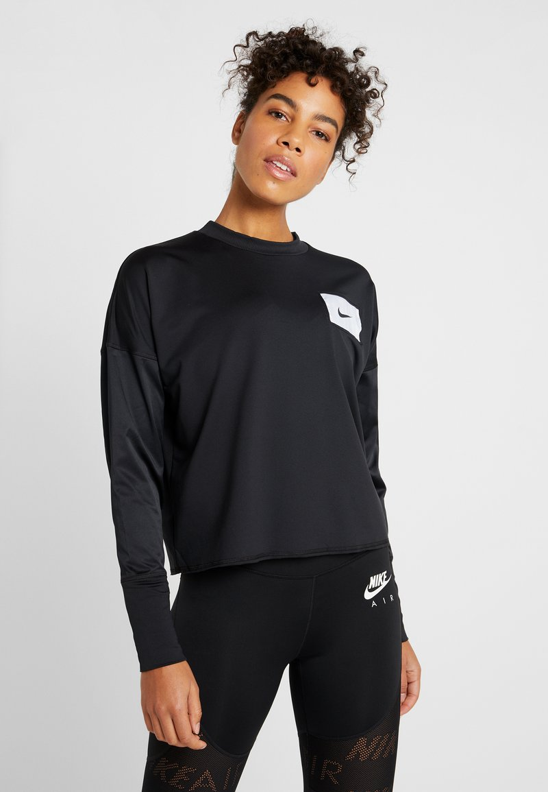 Nike Performance - MIDLAYER CREW REBEL - Funktionsshirt - black/white