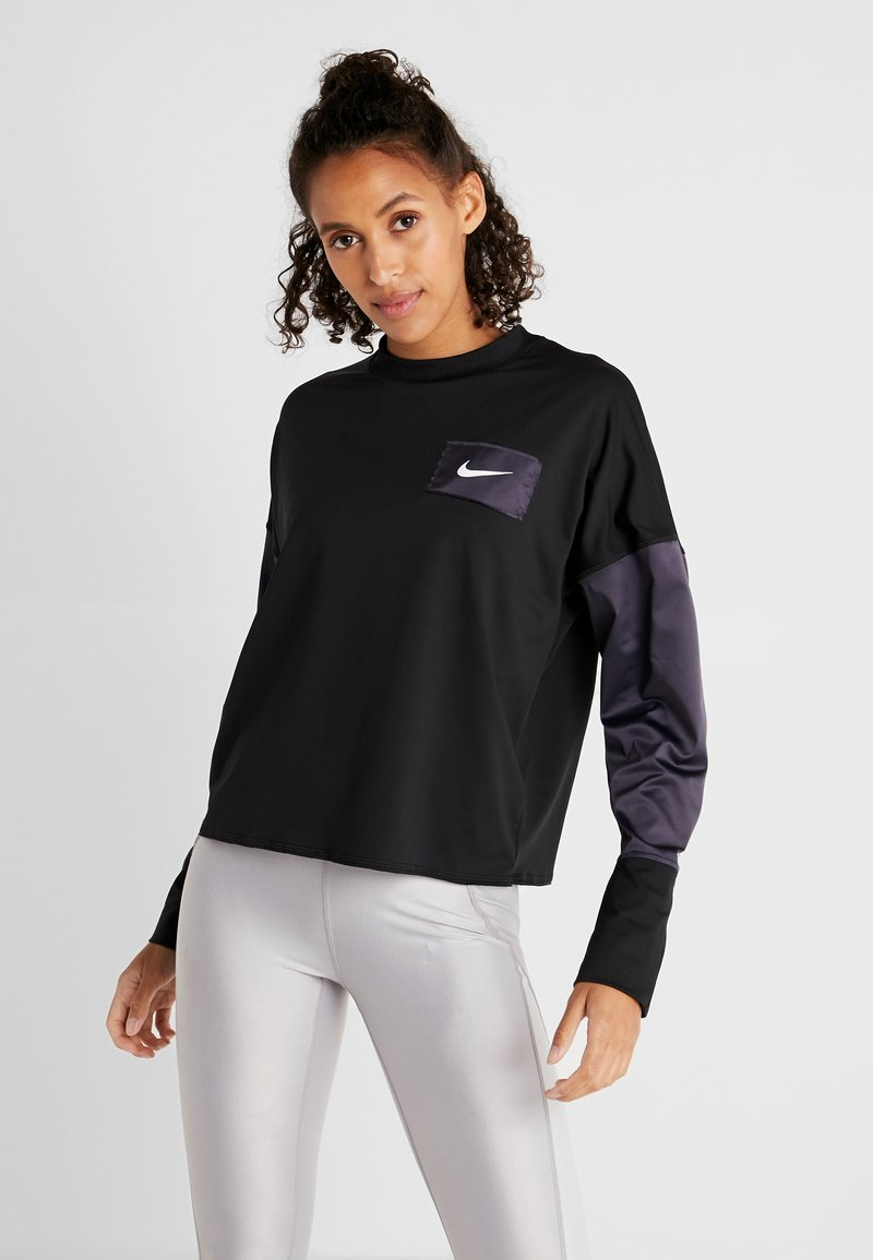 Nike Performance - MIDLAYER CREW REBEL - Sweatshirt - black/white