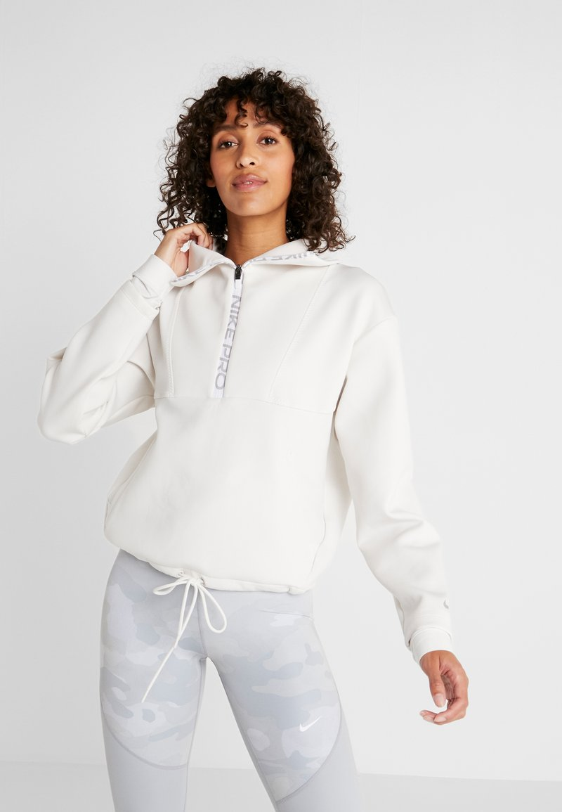 Nike Performance - CROPPED MOCK NECK - Sweatshirt - phantom/metallic silver