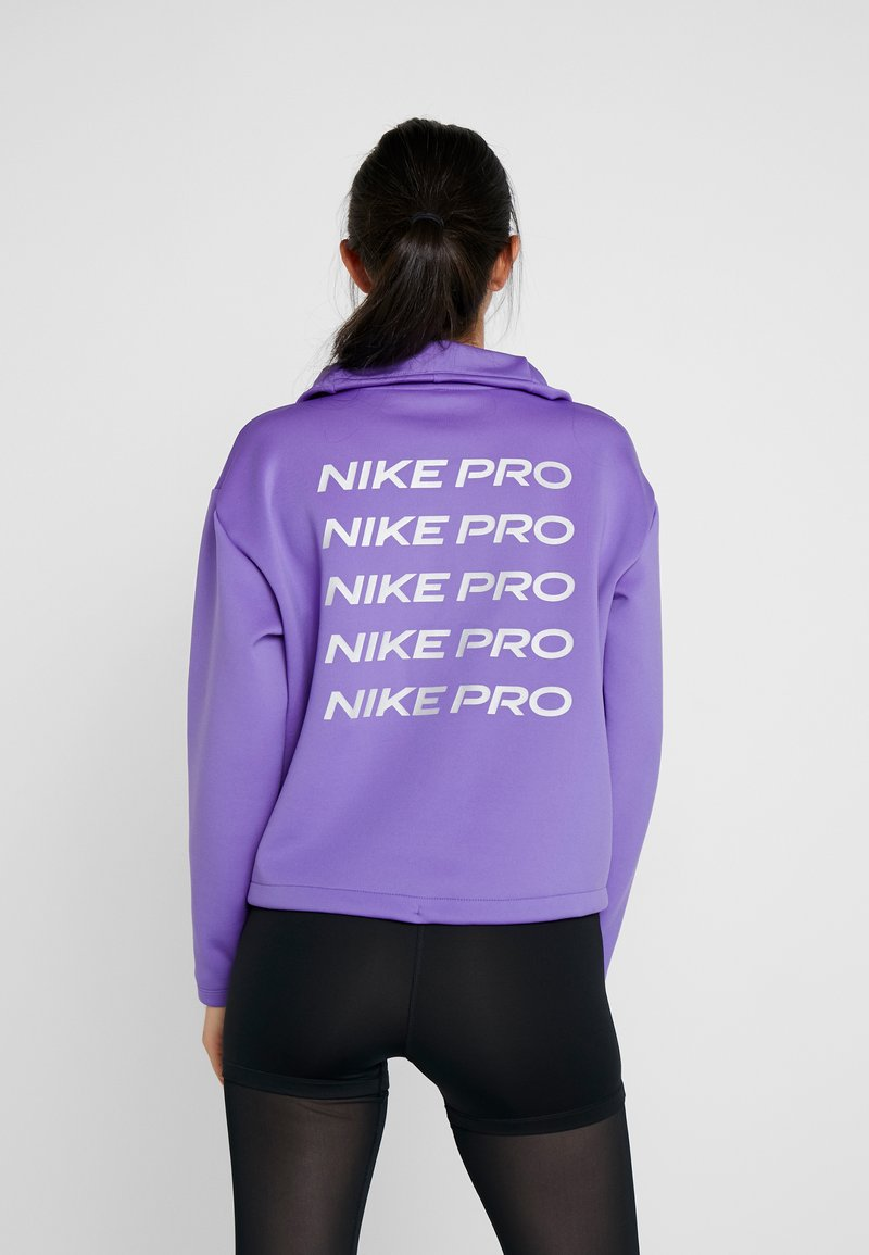 Nike Performance - CROPPED MOCK NECK - Sweater - psychic purple/metallic silver