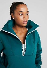 Nike Performance - CROPPED MOCK NECK - Sweater - midnight turq/metallic silver - 3