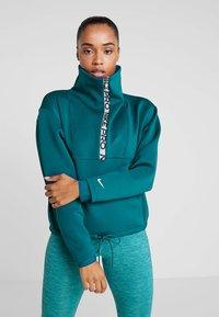 Nike Performance - CROPPED MOCK NECK - Sweater - midnight turq/metallic silver - 0