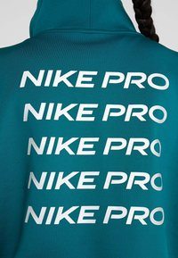 Nike Performance - CROPPED MOCK NECK - Sweater - midnight turq/metallic silver - 7