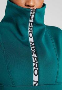 Nike Performance - CROPPED MOCK NECK - Sweater - midnight turq/metallic silver - 4