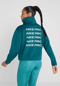 Nike Performance - CROPPED MOCK NECK - Sweater - midnight turq/metallic silver - 2