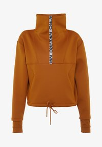 Nike Performance - CROPPED MOCK NECK - Collegepaita - burnt sienna/metallic silver - 5