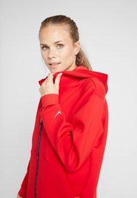 Nike Performance - HOODY - Zip-up hoodie - university red/metallic silver - 3