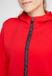 Nike Performance - HOODY - Zip-up hoodie - university red/metallic silver - 5