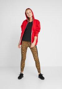 Nike Performance - HOODY - Zip-up hoodie - university red/metallic silver - 1