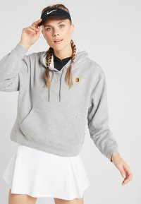Nike Performance - HERITAGE HOODIE - Mikina skapucí - dark grey heather - 0
