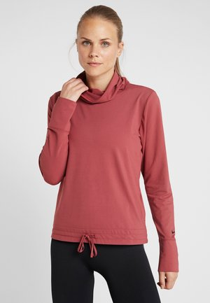 YOGA FUNNEL COVERUP - Sweatshirt - cedar/black