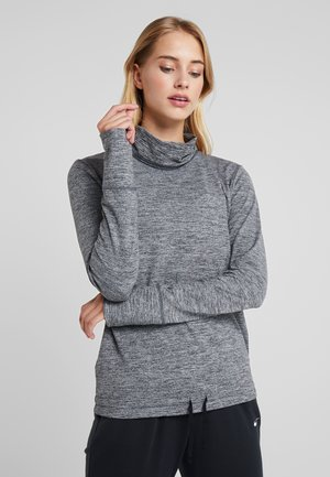 YOGA FUNNEL COVERUP - Sweatshirt - black/heather/anthracite