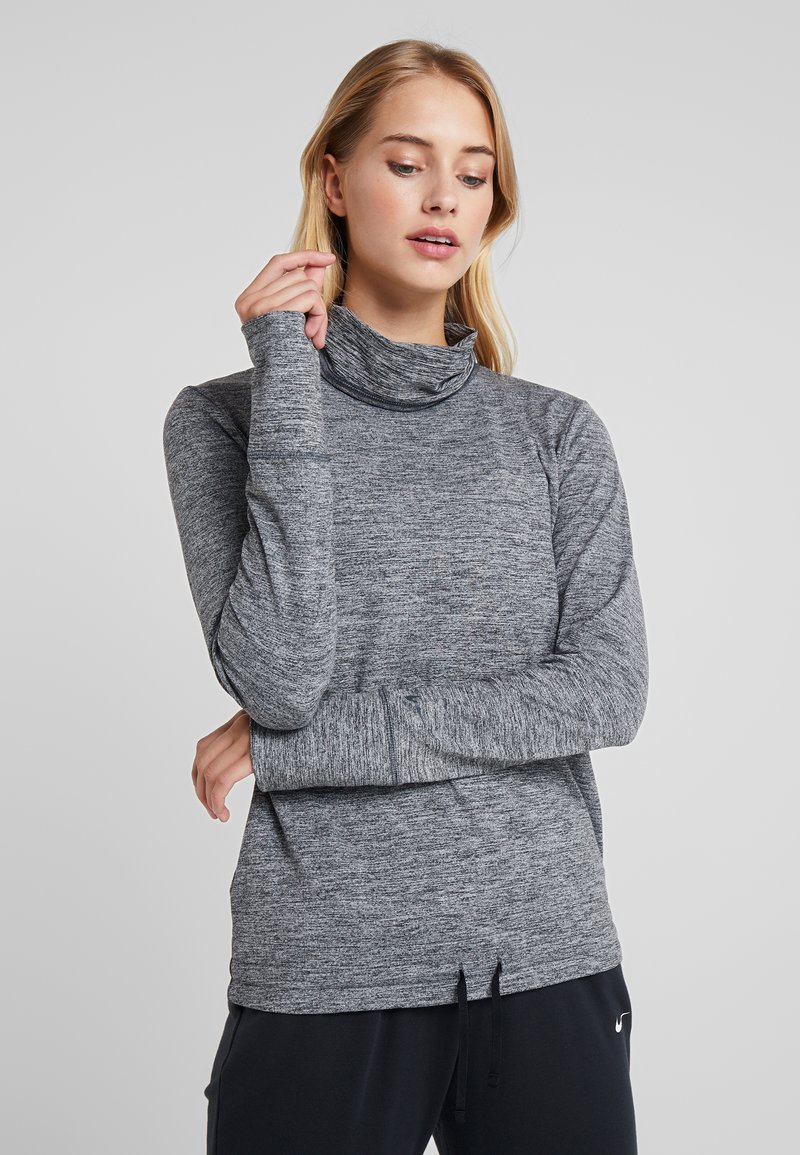 Nike Performance - YOGA FUNNEL COVERUP - Mikina - black/heather/anthracite