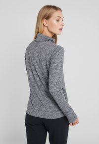 Nike Performance - YOGA FUNNEL COVERUP - Mikina - black/heather/anthracite - 2