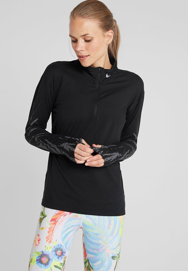 Nike Performance - Sports shirt - black/reflective silver