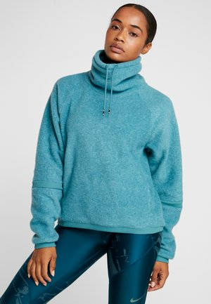 COWL COZY - Fleecepullover - mineral teal/black