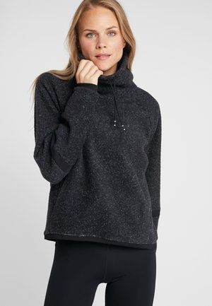 COWL COZY - Sweat polaire - black heather