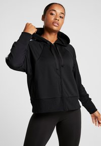 Nike Performance - NK DRY FLC GET  - Zip-up hoodie - black/white - 0