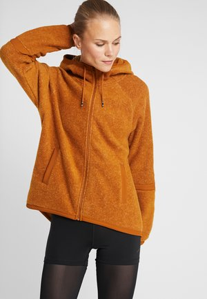 COZY - Fleece jacket - burnt sienna/black