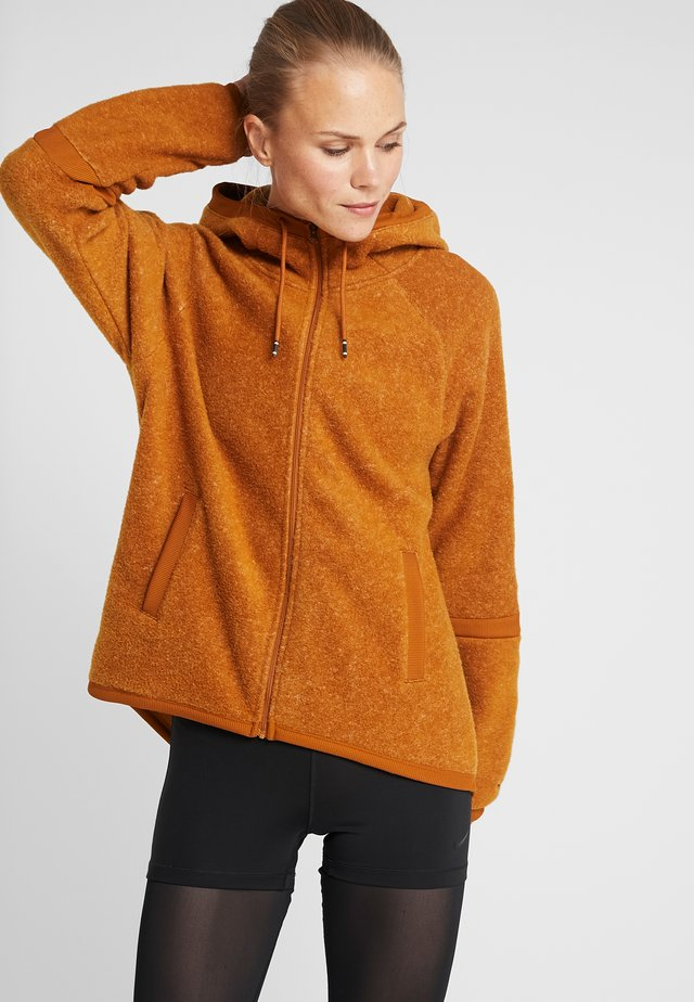 COZY - Fleecejacka - burnt sienna/black