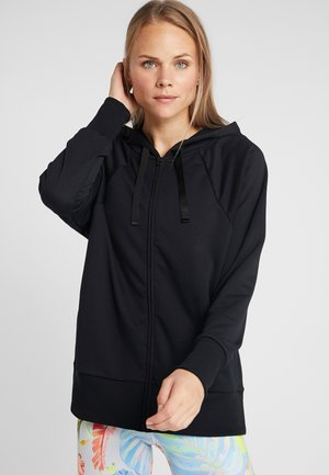DRY GET FIT - Zip-up hoodie - black/white