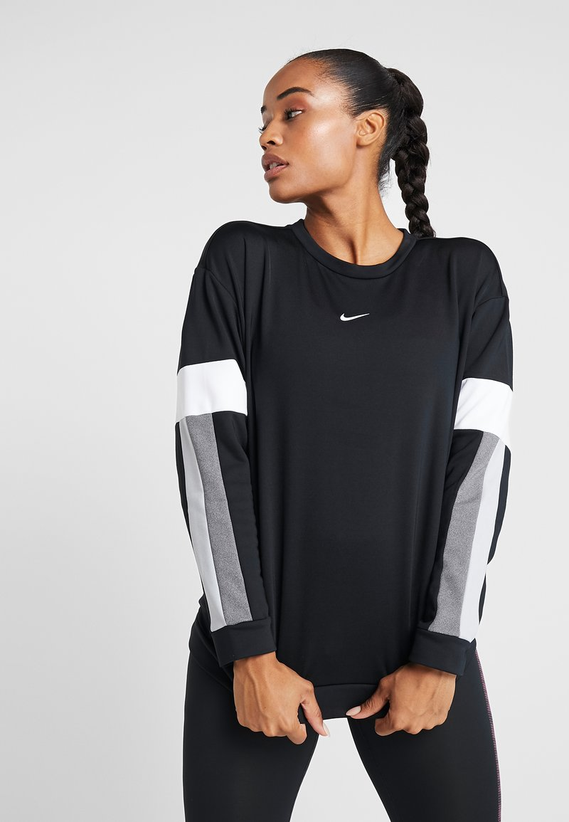 Nike Performance - CREW - Sudadera - black/white/white