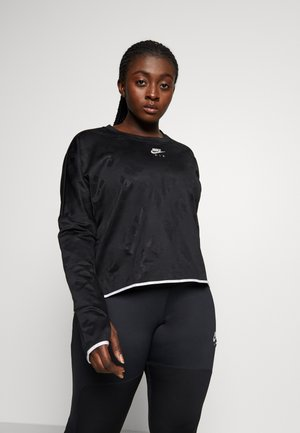 AIR MIDLAYER CREW PLUS - Sportshirt - black/reflective silver