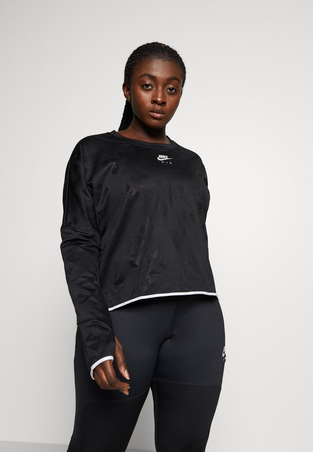 AIR MIDLAYER CREW PLUS - Funktionströja - black/reflective silver