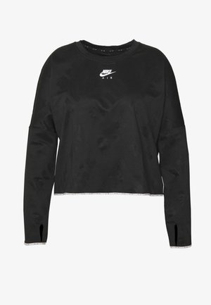 AIR MIDLAYER CREW PLUS - T-shirt sportiva - black/reflective silver