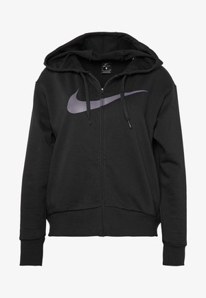W NK DRY GET FIT FC FZ H ES GX - Zip-up hoodie - black/thunder grey