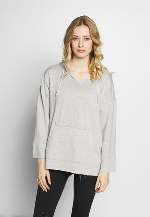 W NK YOGA LUXE BAJA HOODIE - Hoodie - grey heather/platinum tint