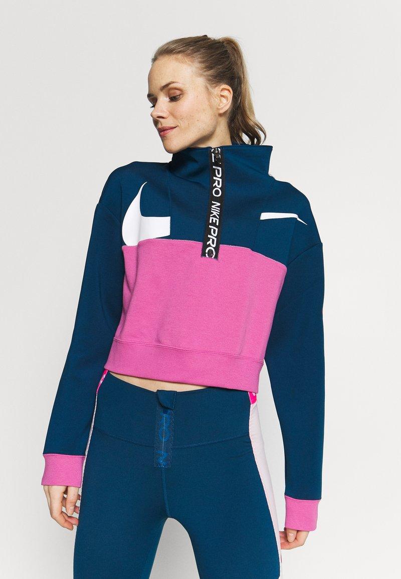 Nike Performance - DRY - Sweatshirt - valerian blue/cosmic fuchsia/white