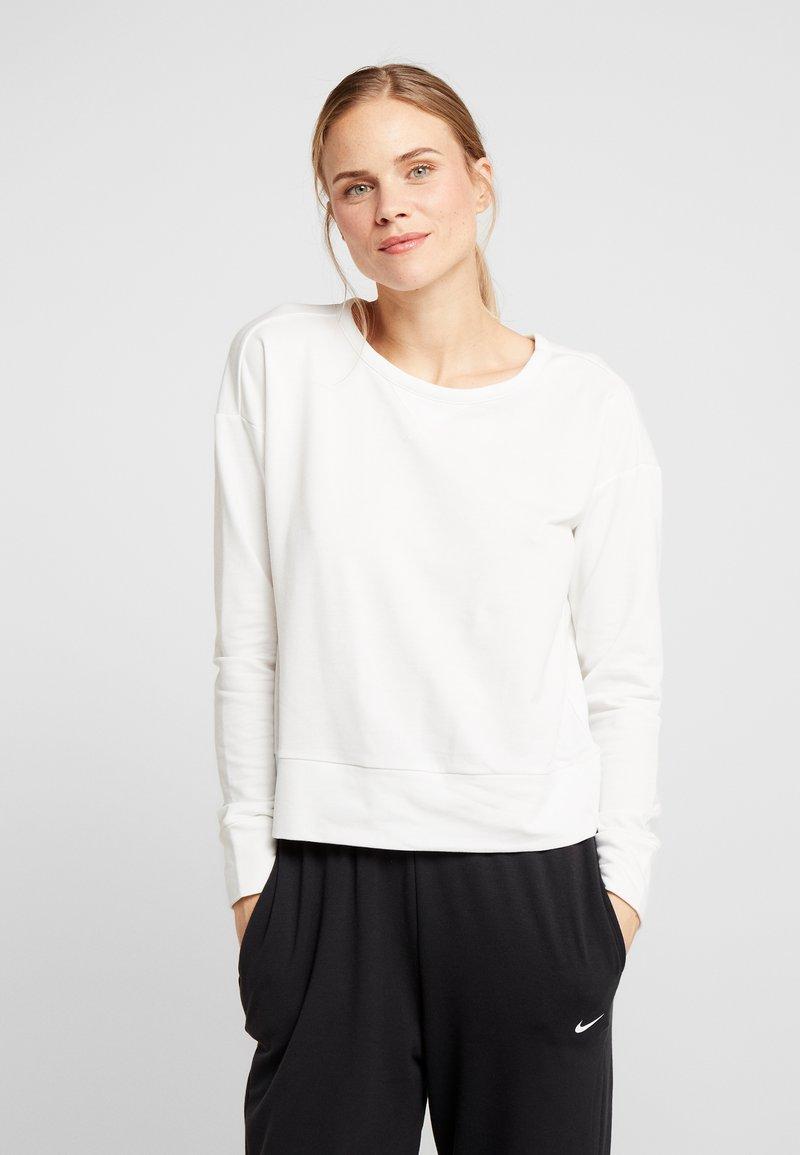 Nike Performance - YOGA WRAP COVERUP - Sweatshirt - summit white/platinum tint