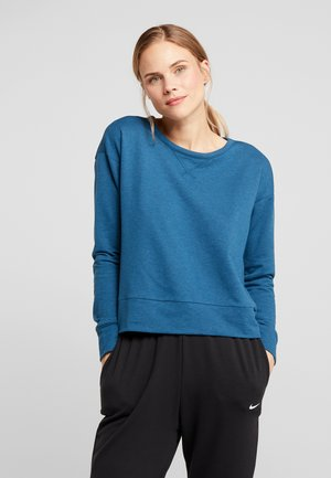 YOGA WRAP COVERUP - Sweatshirt - valerian blue/industrial blue