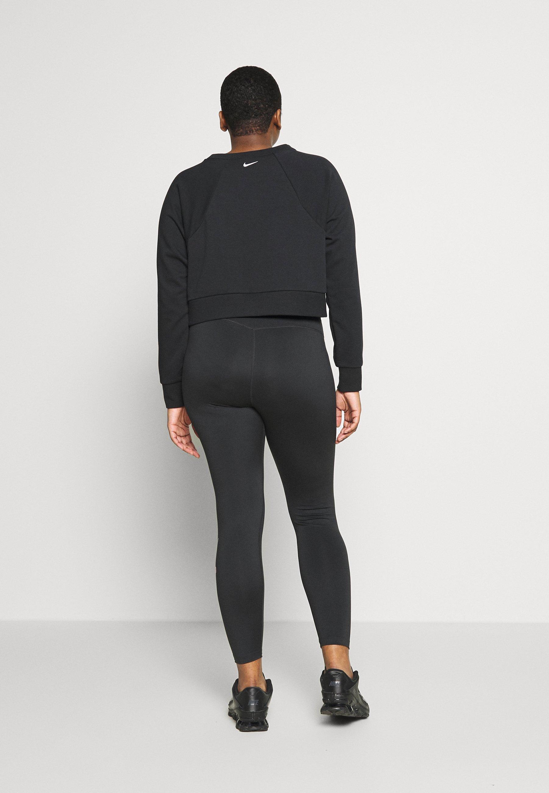 Nike Performance CREW PLUS - Bluza - black/white