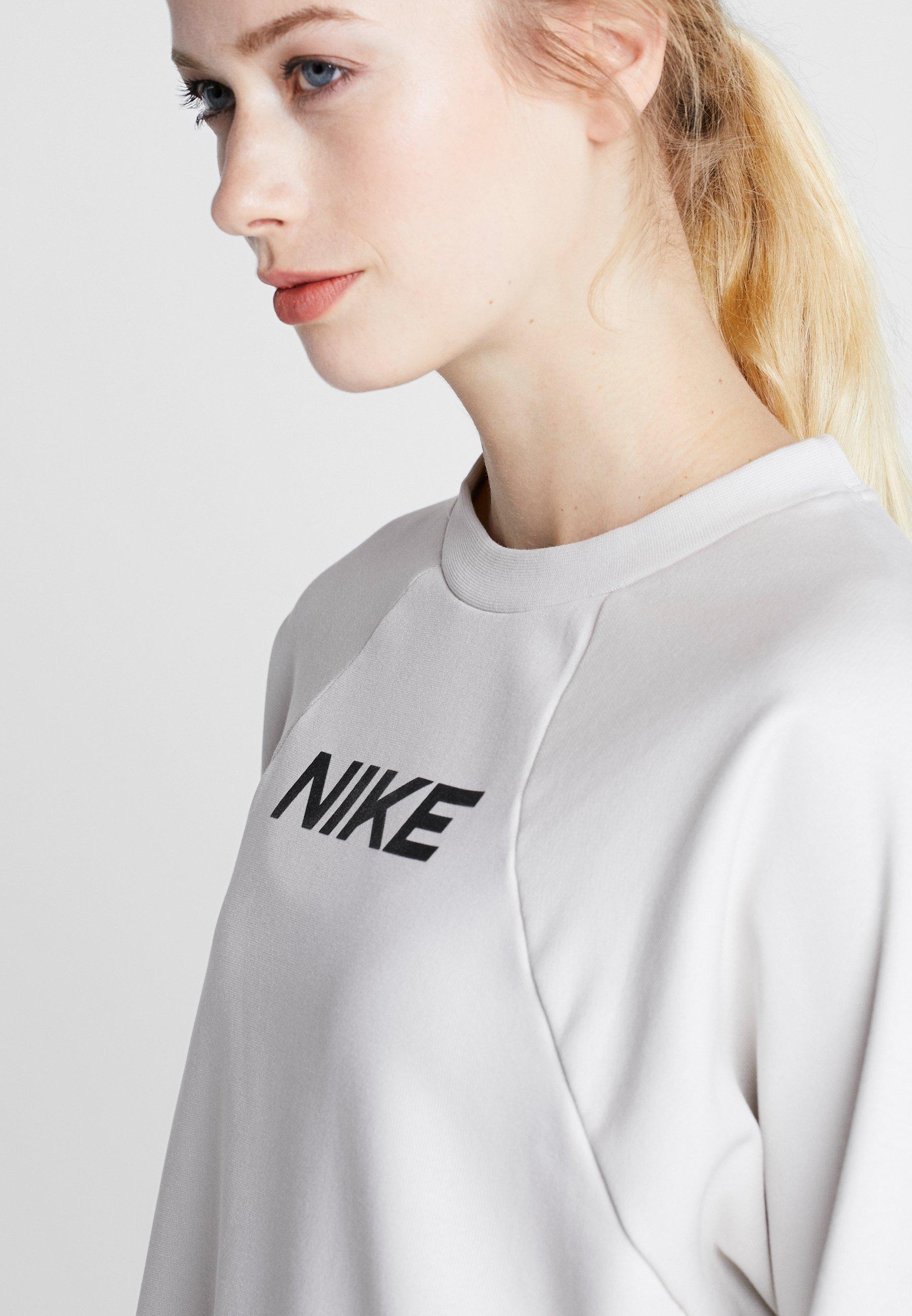 Nike Performance DRY GET FIT - Bluza - light bone/black