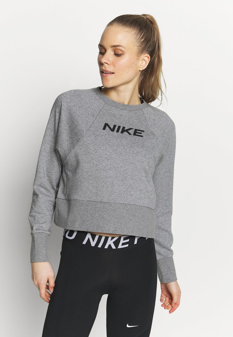 Nike Performance - DRY GET FIT - Sweatshirt - carbon heather/black