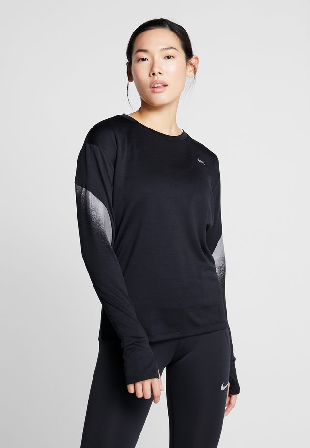 MIDLAYER RUNWAY - Sports shirt - black/silver