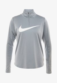 Nike Performance - MIDLAYER RUN - Sports shirt - particle grey/white
