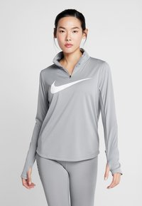 Nike Performance - MIDLAYER RUN - Sports shirt - particle grey/white - 0