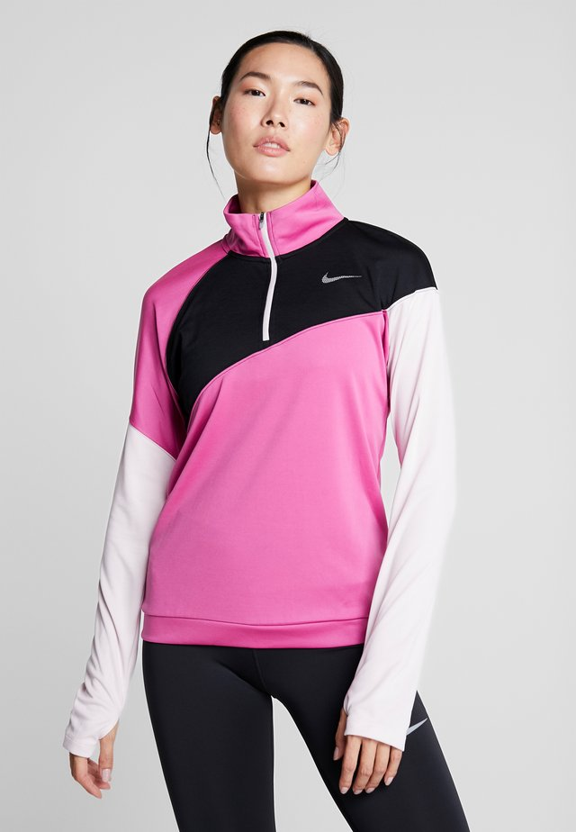 MIDLAYER - Sports shirt - cosmic fuchsia/black/barely rose/silver