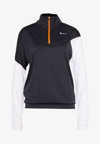 Nike Performance - MIDLAYER - Sports shirt - black/white/reflective silver
