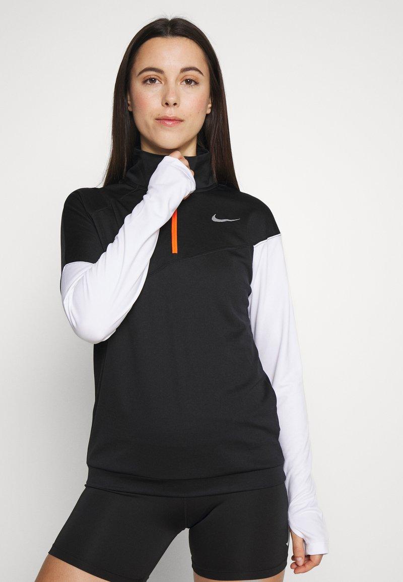 Nike Performance - MIDLAYER - Camiseta de deporte - black/white/reflective silver