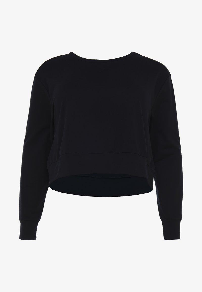 Nike Performance - YOGA WRAP COVERUP PLUS - Sweatshirt - black/smoke grey