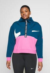 Nike Performance - DRY IN PLUS - Bluza - valerian blue/cosmic fuchsia/white - 0