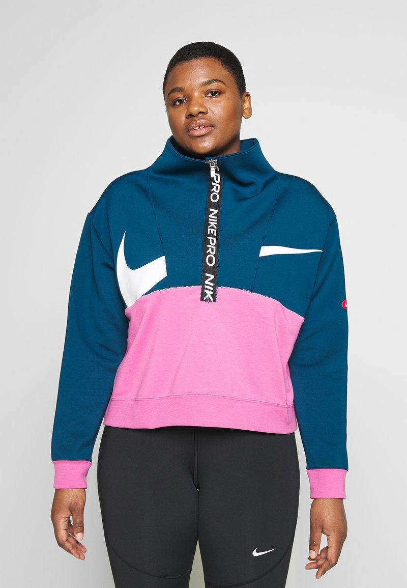 Nike Performance - DRY IN PLUS - Bluza - valerian blue/cosmic fuchsia/white